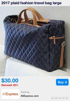 2017 plaid fashion travel bag large capacity handbag cross-body bag man male female bag plaid luggage * Pub Date: 09:33 Apr 5 2017