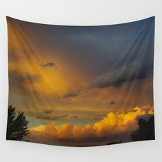 Laingsburg Sunset Wall Tapestry by crismanart Outdoor Walls, Indoor Outdoor, Wall Tapestry, Vivid Colors, Favorite Color, Picnic Blanket, Centerpieces, Sunset, Tablecloths