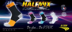 HALFMIX est composée de plusieurs renforts couvrant les ligaments latéraux de la cheville pour renforcer la stabilité de cette zone et limiter les mouvements en inversion du pied.  HALFMIX épouse parfaitement la forme du pied et maintient chaque cheville comme jamais grâce à un tricotage dégressif et un montage spécifique inédit.