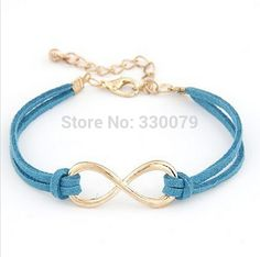 83a507ac9 SL103 Hot Selling Cheap Wholsale Fashion Infinity Leather Bracelet Eight  Cross Bangle For Girl Wedding Jewelry Accessories-in Strand Bracelets from  Jewelry ...
