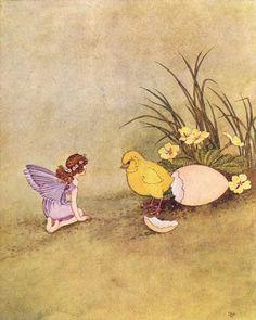 Ida Rentoul Outhwaite  fairy with easter chick