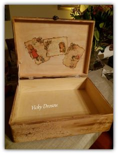letter to Santa Claus - wooden box with decoupage