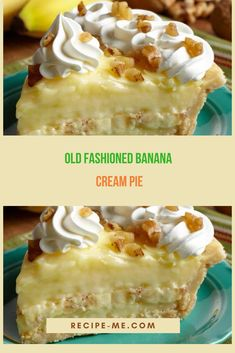 Old Fashioned Banana Cream Pie
