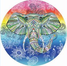 India Elephant Tapestry Rainbow Chakra Mandala Wall Hanging Bohemia Chiffon Thin Summer Beach Tippet Bikini Cover Up