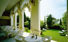 The Veranda where Weddings, High Teas and the House Menus are usually served.