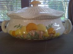 Vintage MUSHROOM Shape SOUP TUREEN by maggiecastillo on Etsy, $20.50