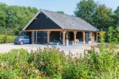 Dubbele houten garage, Zelhem 1