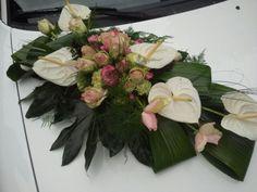 Auto stuk Wedding Car, Centrepieces, Marie, Floral Wreath, Wreaths, Gallery, Home Decor, Valentines Day Weddings, Floral Arrangements