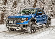 Ford Raptor handling the winter snow and ice with ease