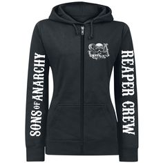 Sons Of Anarchy  Hooded zip  »Reaper Crew« | Buy now at EMP | More Fan merch  Hooded jackets  available online ✓ Unbeatable prices!