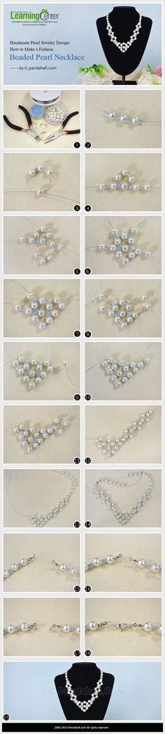 Handmade Pearl Jewelry Design-How to Make a Fashion Beaded Pearl Necklace...