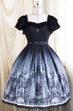 écailles De Lune -Forest Of Pipe Organ- Gothic Lolita OP Dress