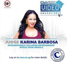"""Karina Barbosa será júri no concurso internacional """"Uganda Club Music Video Awards 2017"""" https://angorussia.com/entretenimento/famosos-celebridades/karina-barbosa-sera-juri-no-concurso-internacional-uganda-club-music-video-awards-2017/"""