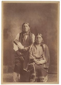 Kiowa Charlie and his wife - no date