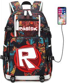 Roblox School Backpack - Lunch Bag - Pencil Case for back to school #robloxschoolbackpack #robloxbackpack #robloxpencilcase #robloxlunchbag #robloxbacktoschool Rucksack Backpack, Canvas Backpack, Travel Backpack, Computer Backpack, Laptop Bag, Cristiano Ronaldo, Star Wars Backpack, Back To School Backpacks, Snake Patterns