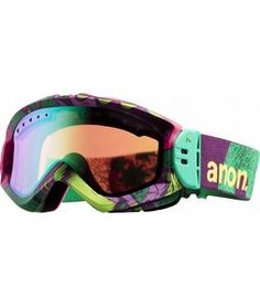 Anon Majestic Printed Snowboard Goggles Koa/Green Mirror Lens 2012 - Women's