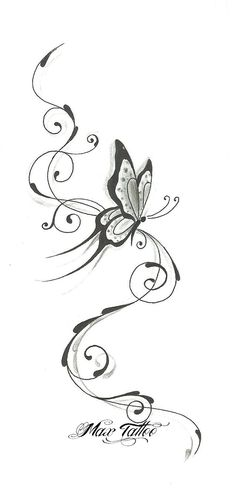 Vine Tattoos, Cover Up Tattoos, Star Tattoos, Body Art Tattoos, Easy Butterfly Drawing, Sunflower Drawing, Butterfly Tattoos Images, Butterfly Tattoo Designs, Pencil Art Drawings