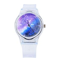 Transparent Clock Silicone Watches Women Sport Casual Quartz Wristwatches Novelty Crystal Ladies Watch Cartoon reloj mujer