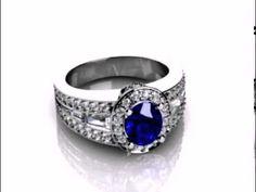 DDER   Jarvis   Custom Sapphire Diamond Rings Dallas   Halo Ring   Sapphie Custom diamond rings in Dallas, Texas at Diamore Diamonds Dallas - Wholesale Diamonds and Custom Diamond rings.  http://www.diamorediamondsdallas.com/