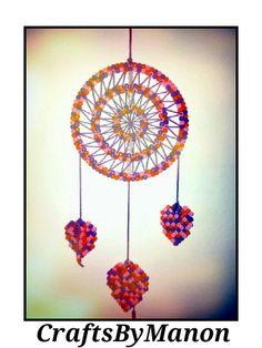 Dreamcatcher made of perler/hama beads - CraftsByManon
