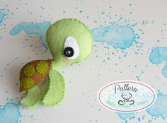 THE TURTLE (PDF)  This cute little friend is THE TURTLE, perfect to be part of a cute baby mobile or as a present for anyone!! As always