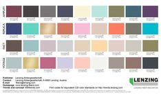 Lenzing Color Trends Autumn/Winter 2018/2019 - FULL COLOR PALETTE #FashionTrendsAutumn