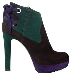 Loriblu Color Block High Heeled Ankle Boots Fall Winter 2011 #Shoes #Booties #Heels