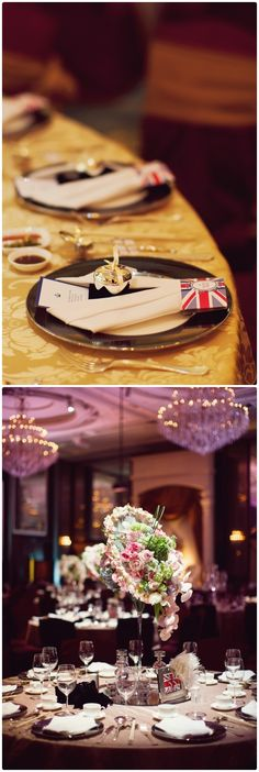 Table Arrangements For Wedding Receptions English Romance | visit www.lovelyweddingideas.com