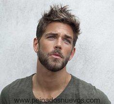 Peinados para hombres con frente grande