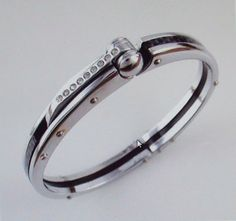 Stainless Steel BDSM Hand Cuff Bracelet Bangle by MsSilversDesigns, $72.04