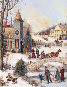 Folk Art Christmas Assorted Christmas Cards , 1008091 | Lang