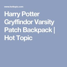 Harry Potter Gryffindor Varsity Patch Backpack | Hot Topic