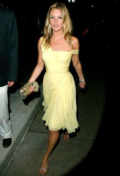 The second the summer sun comes out, I'm drawn to yellow.  And, a soft tan + a flowy yellow dress ...
