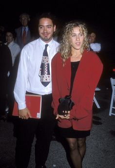 …literally wearing clothes straight from RDJ's closet.   17 Times Sarah Jessica Parker Wore Some Truly Epic '80s Fashion