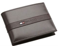 Tommy Hilfiger Ranger Brown Billfold Passcase Wallet w/Valet Gift Box. This wallet measures x Features: The billfold design provid. Cowhide Leather, Leather Men, Brown Leather, Cheap Fathers Day Gifts, Tommy Hilfiger Wallet, Slim Leather Wallet, Men Wallet, Billfold Wallet, Ranger