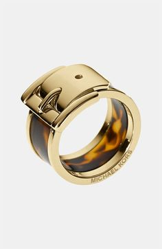 Michael Kors Goldtone and Tortoise Wide Buckle Ring Michael Kors Ring, Anillo Michael Kors, Outlet Michael Kors, Cheap Michael Kors, Handbags Michael Kors, Mk Handbags, Marken Outlet, Barrel Rings, Jewelry Accessories