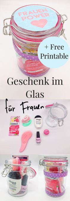 - DIY Geschenke im Glas selber machen Beautiful DIY Gift Ideas for Women: Gifts in Glass! Nice idea for the birthday to make yourself for the best friend or mom. DIY gifts in glass to assemble by yourself. Diy Gifts In A Jar, Diy Gifts For Friends, Easy Diy Gifts, Jar Gifts, Creative Gifts, Creative Ideas, 5 Senses Gift, Boyfriend Gifts, Gifts For Women