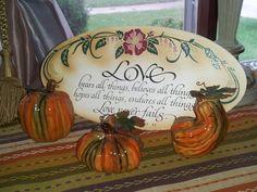These ceramic pumpkins were from kirkland's