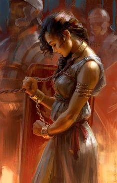 Atmospheric Fantasy Artworks — Zenobia by Fantasy Kunst, 3d Fantasy, Fantasy World, Fantasy Queen, Fantasy Princess, Fantasy Art Warrior, Warrior Drawing, Digital Art Fantasy, Fantasy Images