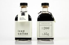Received first place in the coffee category at Cornish's Product and Packaging show Designed by: Alex Wallace, USA. Juice Packaging, Beverage Packaging, Coffee Packaging, Coffee Branding, Bottle Packaging, Coffee Label, Iced Coffee, Coffee Drinks, Espresso Coffee