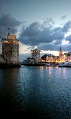 Blue hour.. La Rochelle, France (by mariusz kluzniak on Flick)