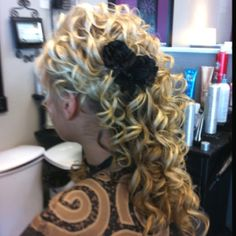 Hair for wedding or prom