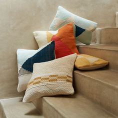 Chindi Colorblock #PillowCover - Apricot   West Elm/ love these