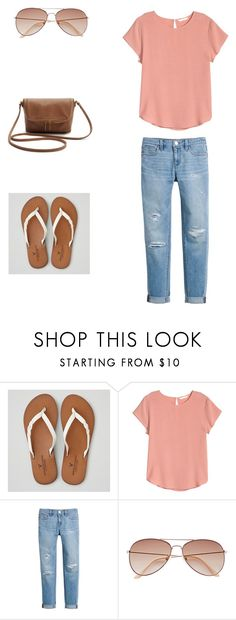 """""""first set😜"""" by chlo-bell ❤ liked on Polyvore featuring American Eagle Outfitters, H&M and White House Black Market"""