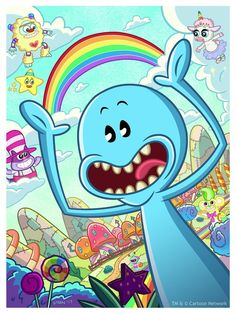"Justine ""Steen"" Pulles ""The Adventures of Mr. Meeseeks in Never Past Bedtime Land"" Print"
