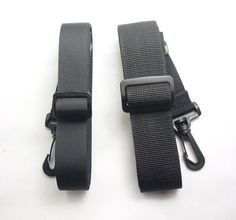 "Black Replacement Shoulder Strap 2.5cm 1"" x 51""  Adjustable for Luggage Duffle"