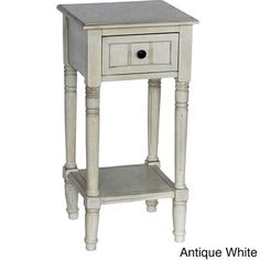 Simplify One Drawer Square Accent Table - 17431270 - Overstock.com Shopping - Great Deals on Decor Therapy Coffee, Sofa & End Tables