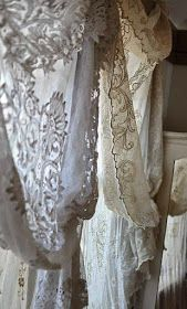 Beautiful lace curtains by ZsaZsa Bellagio: French, Shabby Home Inspiration Antique Lace, Vintage Lace, Vintage Teacups, Vintage Accessoires, Lace Curtains, Vintage Curtains, Ikea Curtains, Nursery Curtains, Victorian Curtains