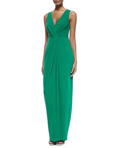 Twist-Front Sleeveless Jersey Gown by Halston Heritage at Bergdorf Goodman.
