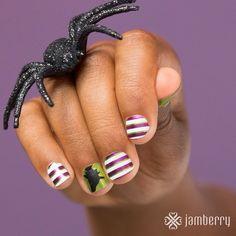 #halloween #nailsBcute #nailart #naildesign #jamberry #nailcare